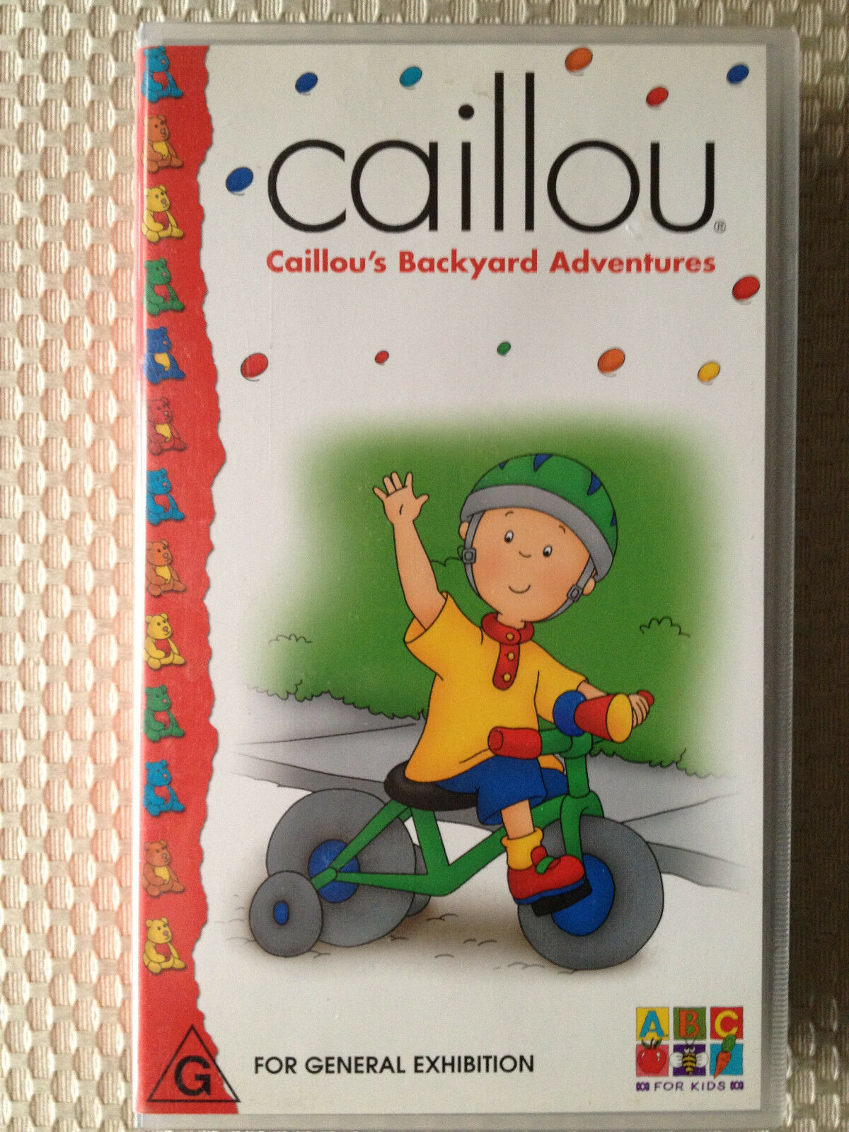abc for kids caillou u0027s backyard adventures vhs video ebay