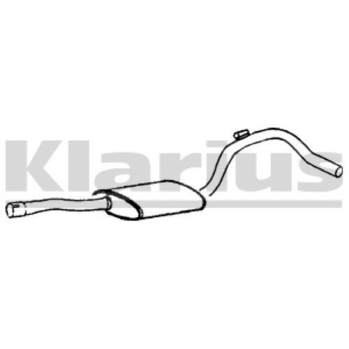 1x KLARIUS OE Quality Replacement Middle Silencer Exhaust For DAIMLER, JAGUAR