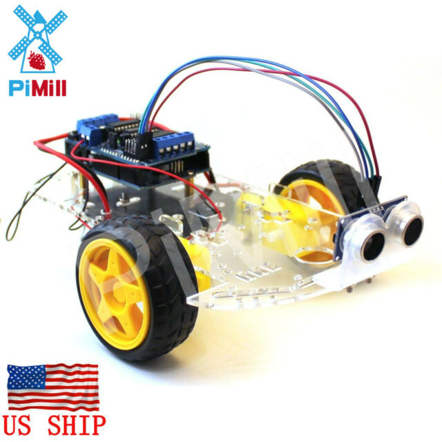 Pimill arduino obstacle avoiding robot car kit ebay