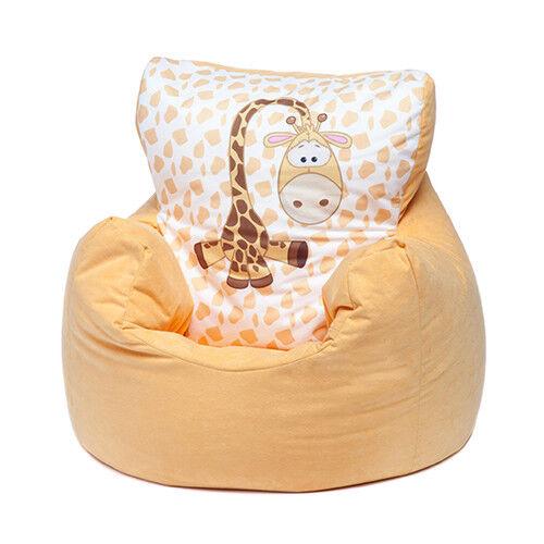 Yellow Giraffe Childrens Character Filled Beanbag Kids Bean Bag Chair Bedroom