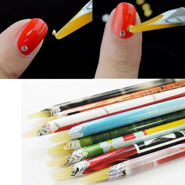 Pop Wax Resin Rhinestones Gems Nail Art Picking Tools Pencil Pen ...