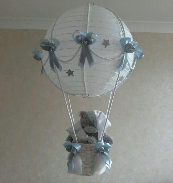 Disney princess in hot air balloon light lamp shade made to order ebay noche estrellada hot air balloon nusery lmpara luz sombra en azul hecho a pedido aloadofball Images