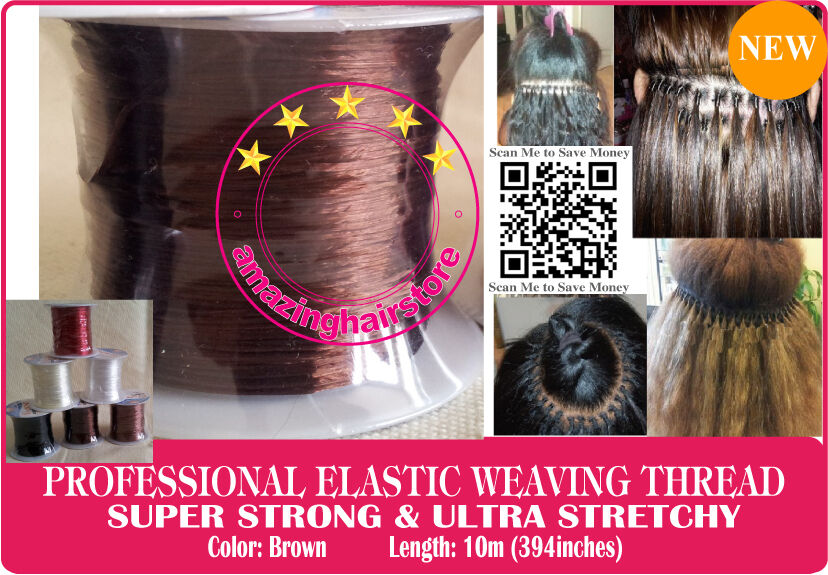 Brown Brazilian Knot Hair Extensions Ultra Stretchy Elastic Weaving