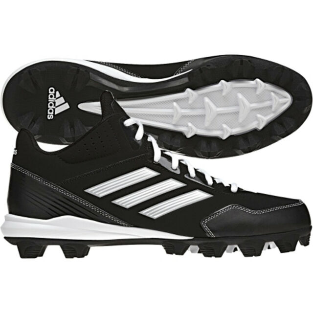 adidas Performance Men's Wheelhouse Mid Baseball Cleat, Core Black/Running White/Metallic/Silver, 6.5 M US
