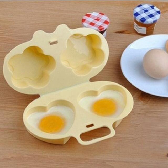 Microwave Poach Egg Poacher Cooking Cooker Plastic Kitchen Gadget Cute Tool 6a