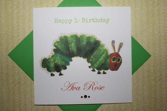 Handmade Personalised The Very Hungry Caterpillar Birthday Card – Hungry Caterpillar Birthday Card