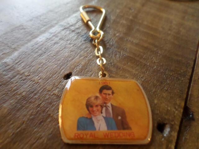 Vintage 1981 Royal Wedding Keyring Collectable Charles Diana Memorabilia