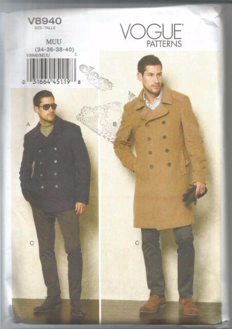 Vogue Sewing Pattern 8940 Men\'s Jacket and Pants Size 34 - 40 Uncut ...