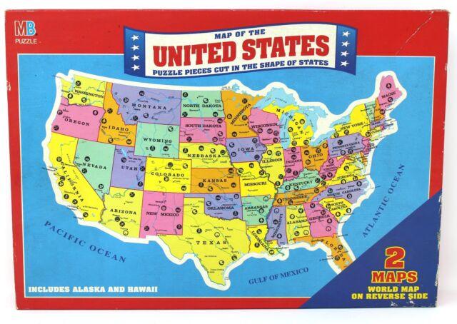 Milton bradley usa map puzzle