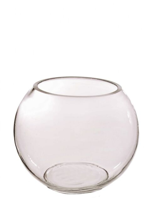 Clear Glass Fish Bowl Vase Table Centrepiece Bubble Ball For Home