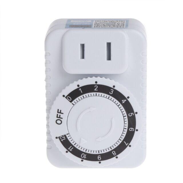 AC 220v 12 Hour Mechanical Wall Plug Switch Timer Socket Home ...