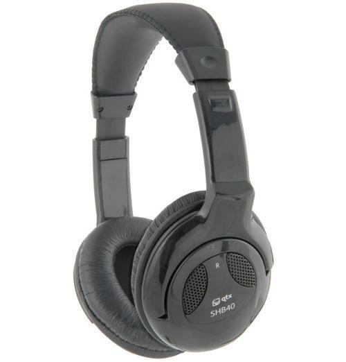 QTX 100.524 Stereo Hi-Fi Headphones Single Entry Cord Gold Plated 3.5mm Plug New