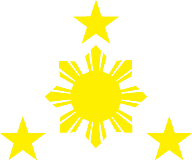 Philippines Stars And Sun Vinyl Decal 116mm By 90 Mm Apr