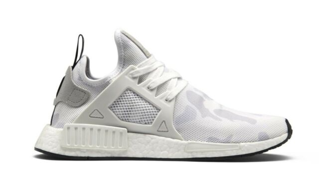 Adidas  NMD XR1 White White Black Duck Camo Running BA7233  (641) Men's Shoes