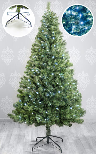 Christmas Tree Artificial Christmas Tree 210 cm Fit Tree PVC with LED