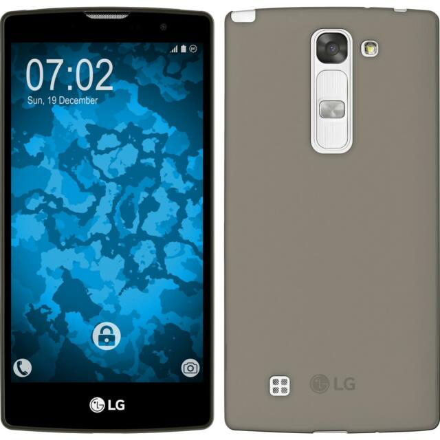Silicone Case for LG G4c Slimcase gray + protective foils