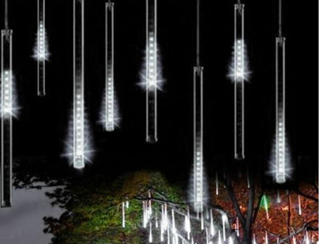 picture 1 of 12 - Meteor Christmas Lights