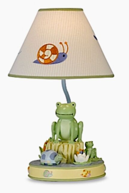 Kids Line Leap Froggie Lamp Base And Shade   NEW In Box