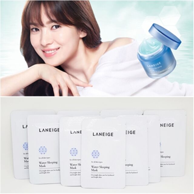 80ml LANEIGE Water Sleeping Mask 4ml 20pcs Moisturizing Revitalizing Korea 01