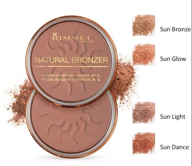 RIMMEL Natural Bronzer SUN BRONZE 022 NEW waterproof bronzing powder