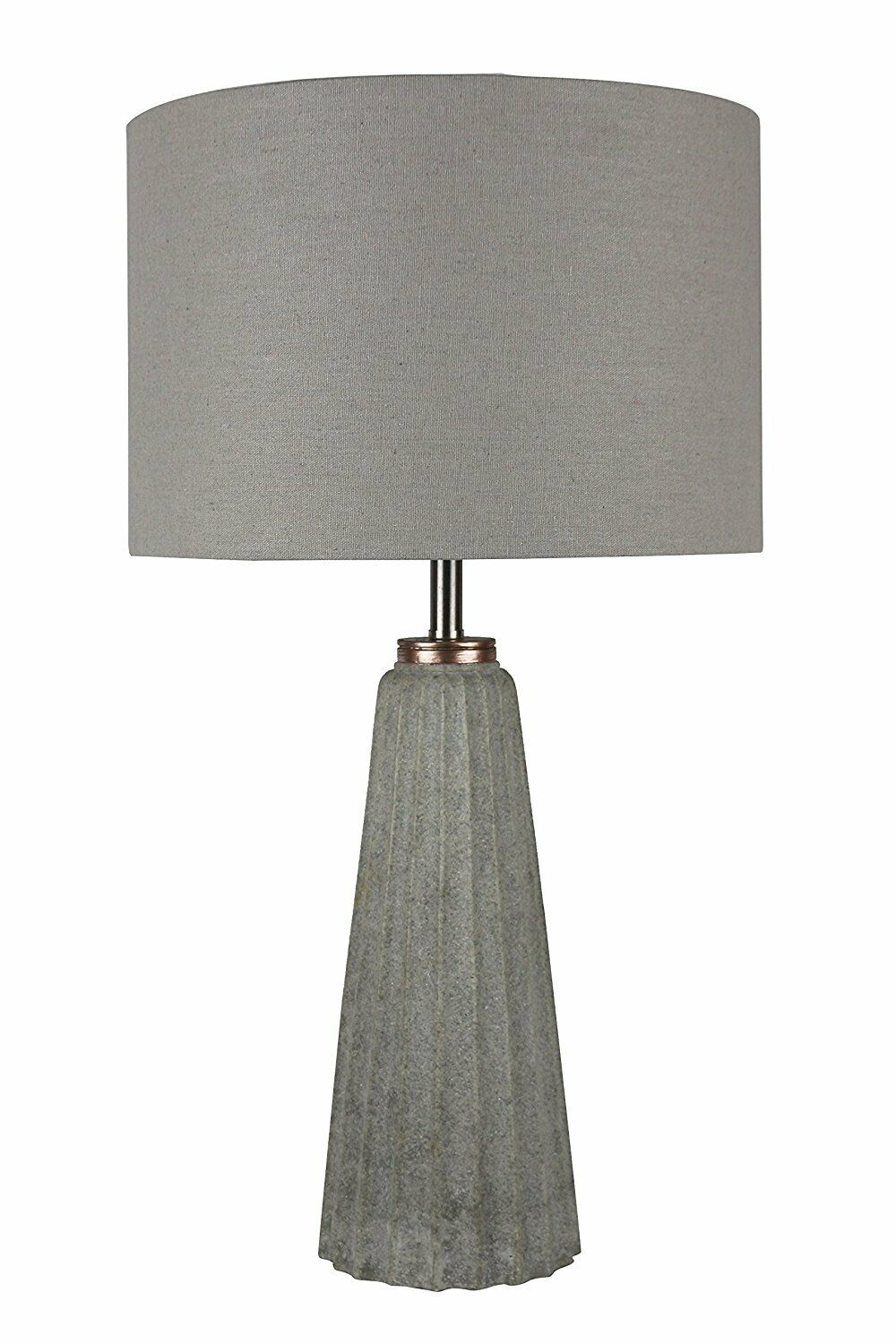 Urbanest gesso table lamp in natural stone finish with light gray picture 1 of 1 geotapseo Choice Image