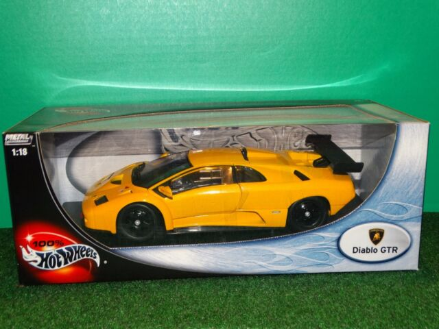 hot wheels lamborghini diablo gtr diecast car yellow 1 18 ebay. Black Bedroom Furniture Sets. Home Design Ideas