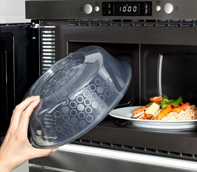 Ikea Microwave Cover Splatter Screen Steam Release Lid 10 Blue Gray New Ig
