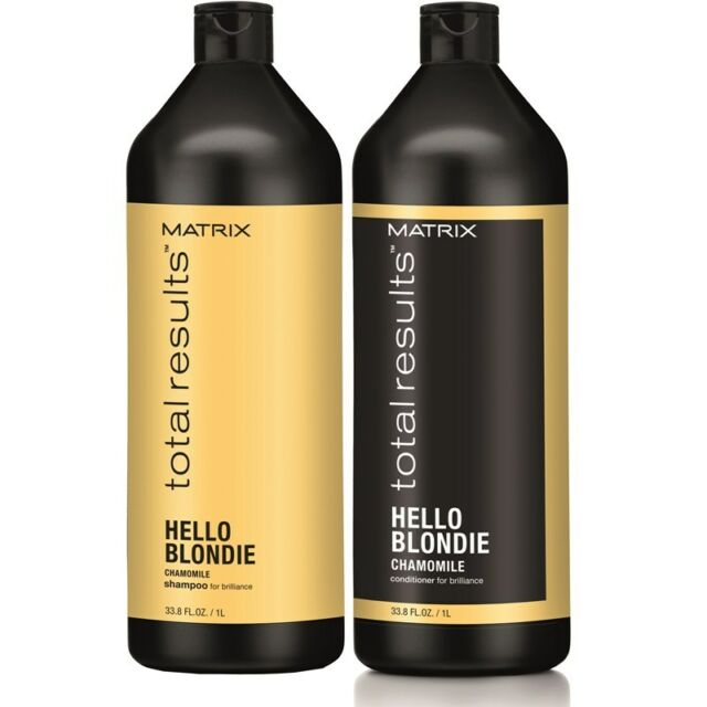 MATRIX NEW TOTAL RESULTS HELLO BLONDIE SHAMPOO  AND CONDITIONER 1000ml/LITRE