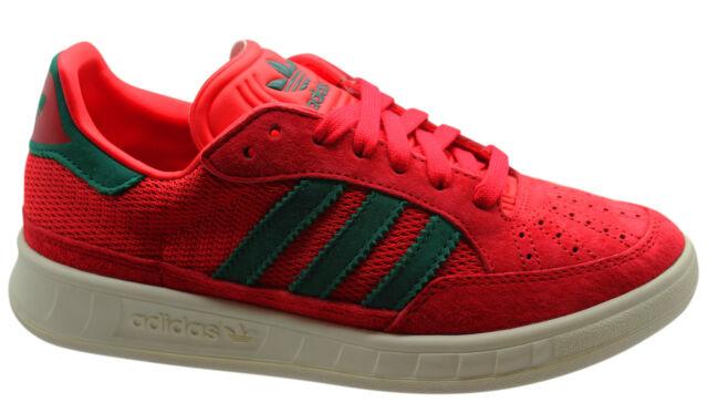adidas originali suisse mens formatori unisex, scarpe di pelle rossa