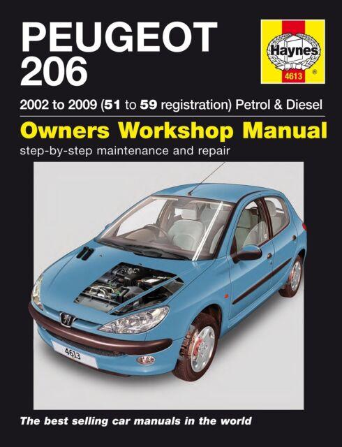 haynes manual peugeot 206 petrol hdi diesel 2001 2009 ebay rh ebay co uk manual peugeot 206 xs manual peugeot 206 feline
