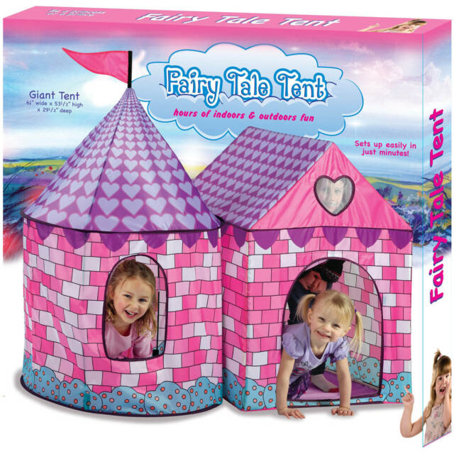 Fairy Tale Tent Playhouse Play House Kids Children Fold Up Indoor Outdoor Party  sc 1 st  eBay & Princess Fairy Tale Tent Playhouse Pink Indoor Outdoor Play House ...