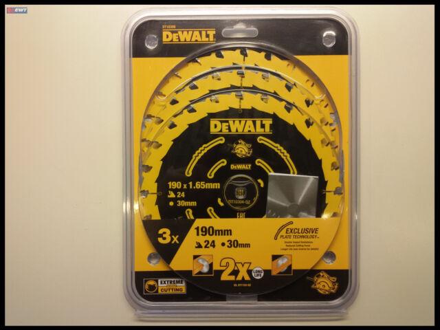 DeWALT DT10399 Kreissägeblatt 190/30 3er-Pack DT10304 DT10399 f. DWE565K DWE576K