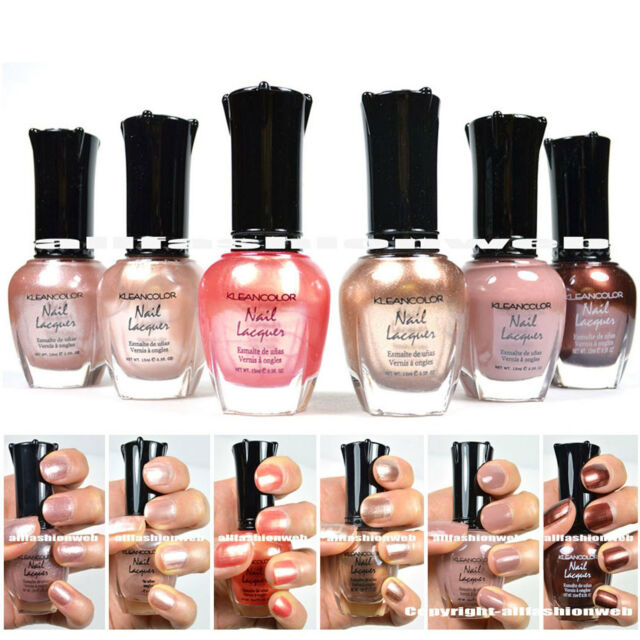 KleanColor Nail Polish Natural Nude Beige Colors Lacquer Collection ...