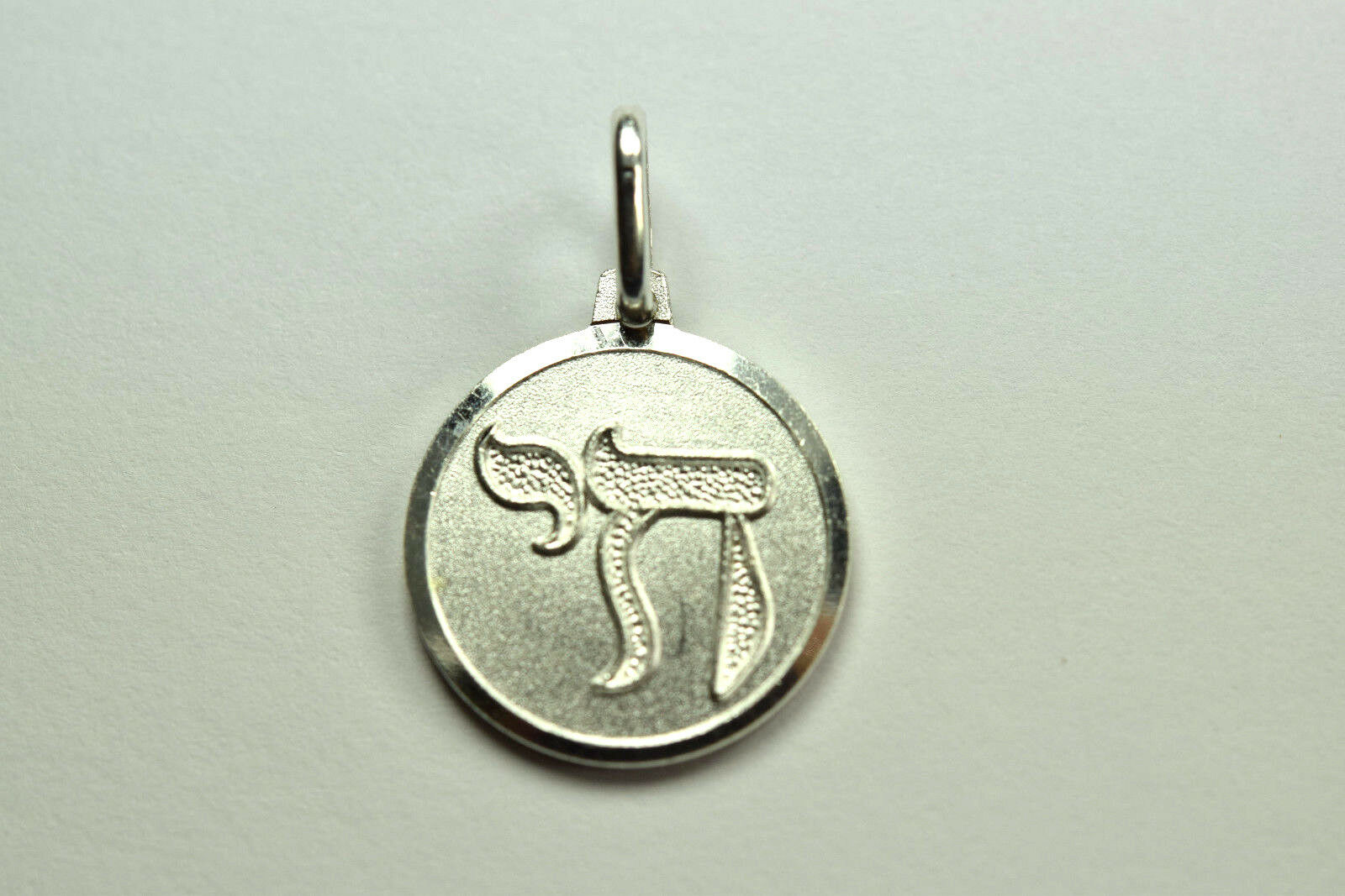Italy 925 sterling silver hebrew chai symbol circle pendant ebay picture 1 of 5 buycottarizona