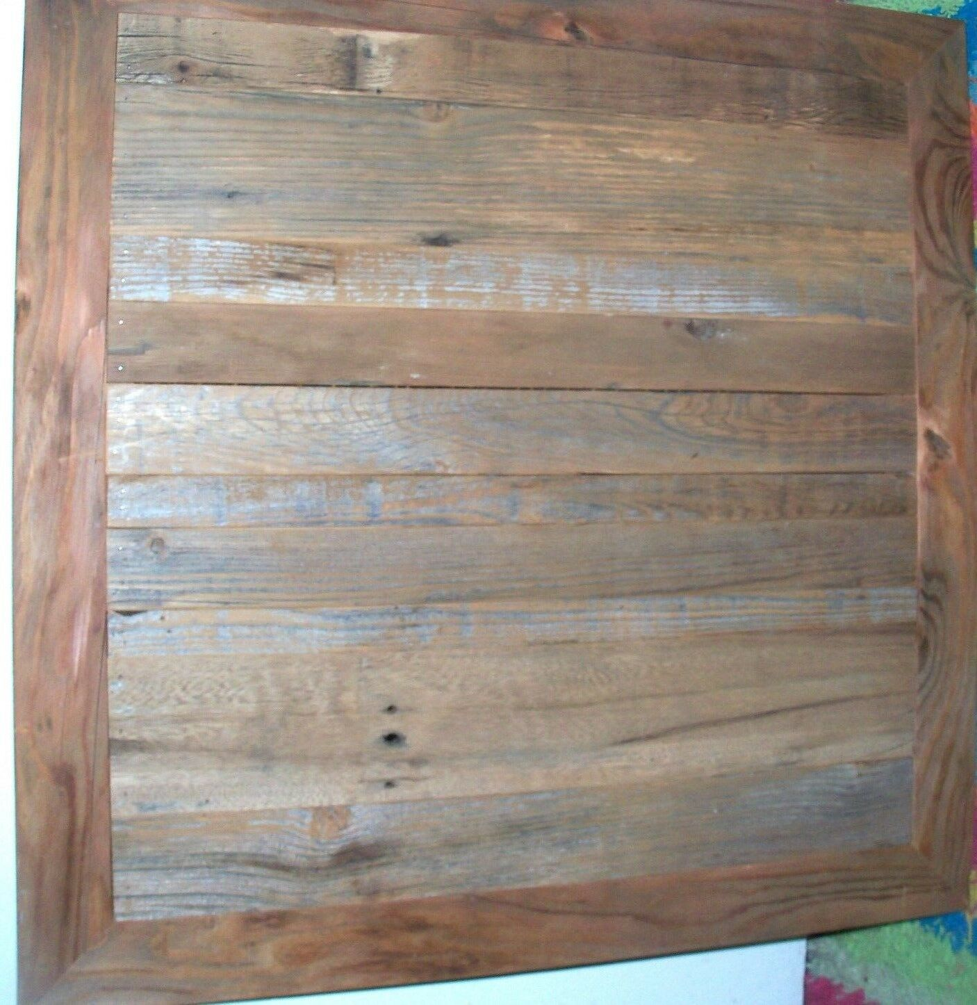 Reclaimed Barn Wood Table Top 30x30 Urban Rustic Restaurant Modern ...