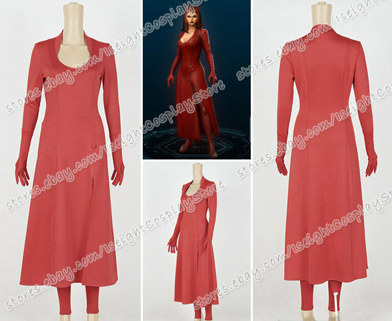 Marvel Avengers Cosplay Scarlet Witch Costume Halloween Party ...