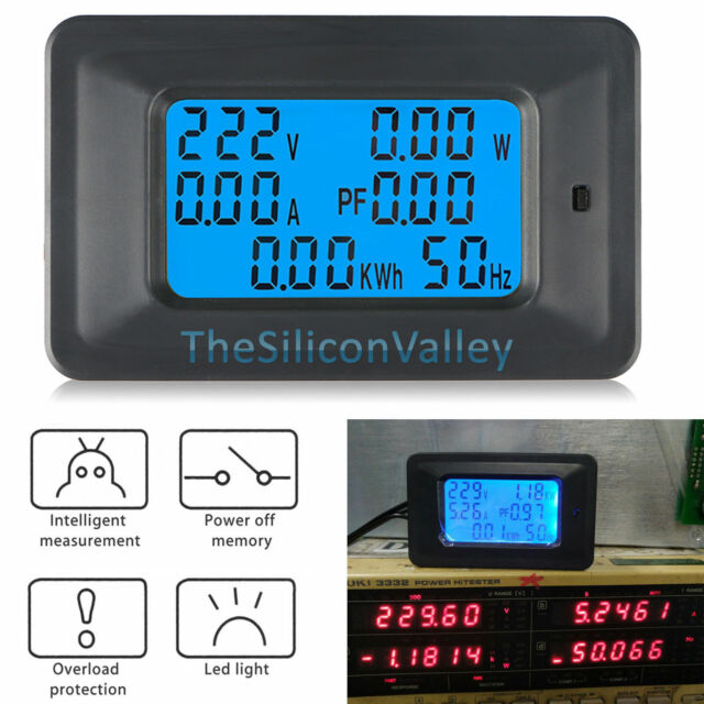 L De Voltage Meter : A ac lcd digital panel power watt meter monitor voltage