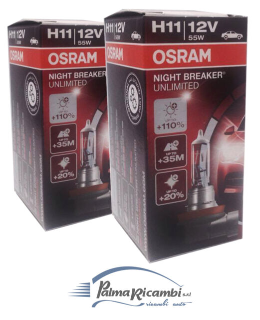LIGHT BULBS CAR OSRAM H11 12V 55W NIGHT BREAKER UNLIMITED COD64211NBU