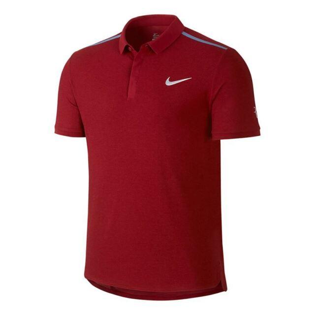 Nike Court RF ADVANTAGE Tennis Polo Shirt - Men's DRI-FIT Red FEDERER  729281 677