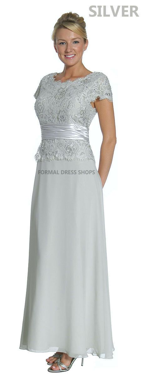 Classy Mother of The Groom Bride Evening Gown Formal Church Dress ...