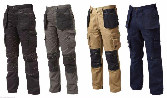Apache Heavy Duty Cargo Work Wear Cordura Trousers Kneepad & Holster Pockets