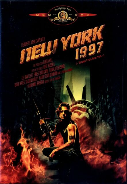 NEW DVD w/o SHRINKWRAP // ESCAPE FROM NEW YORK// KURT RUSSELL/ FRENCH COVER
