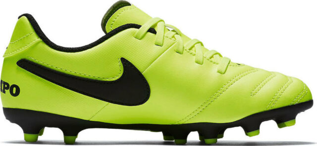 NEW Nike JR Tiempo Rio III FG Kids Football Boots 819195 - 707 Size 2.5 Y
