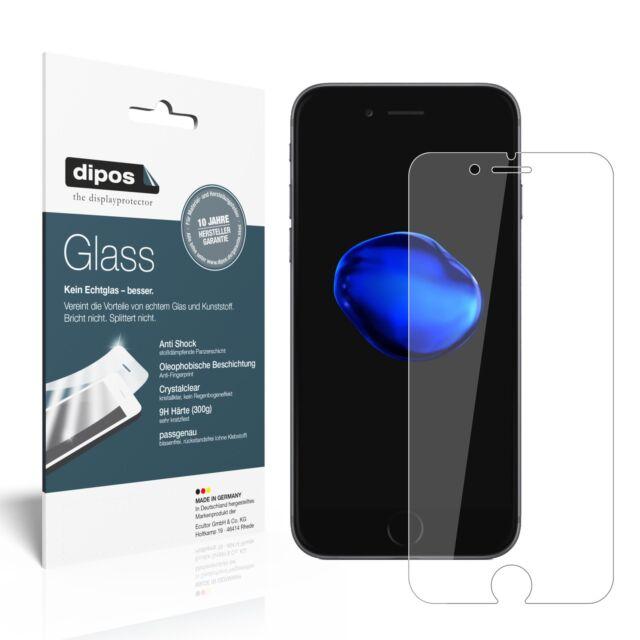 2x dipos Glass Folie Glasfolie Apple iPhone 7 / 8 Schutzfolie Kunststoffglas 9H