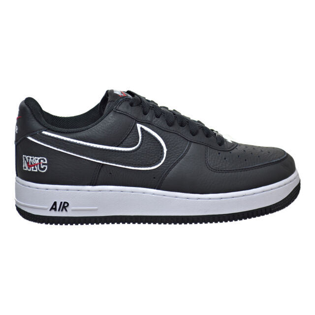 Nike Air Force 1 Low Retro Men's Shoes Black/White/Varsity Red 845053-
