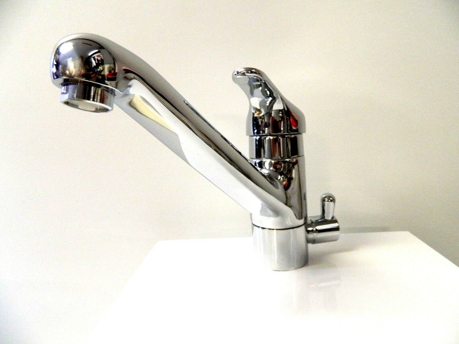 Hamat 3 Way Kitchen Faucet Single Lever 3-2816 Polished Chrome Prep ...