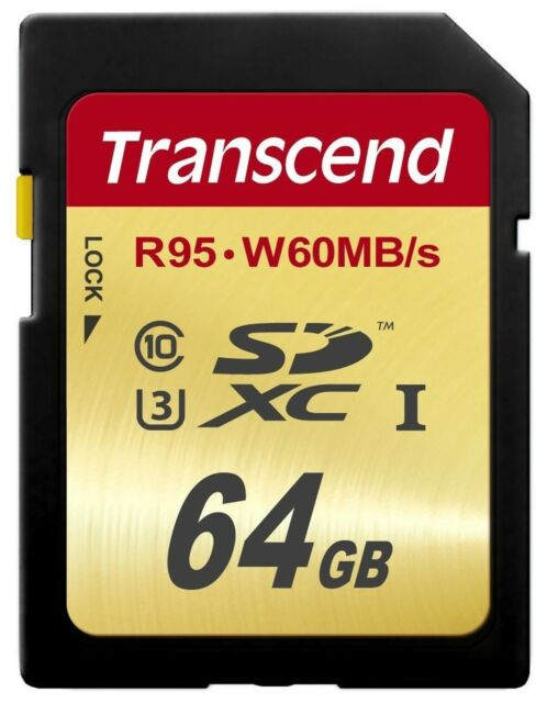 Transcend SDXC 64GB Ultimate 95MB/s Read 60MB/s Write Flash Memory Card New ct