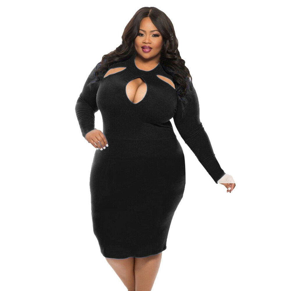 Bandage bodycon dresses 0 celebrities 1639 get lucky extra 50 0 - Women Hollow Bodycon Party Club Cocktail Evening Short Mini Dress Plus Size