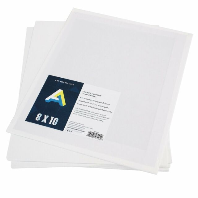 12 pack 8 x10 canvas panels blank cotton stretched mounted artist