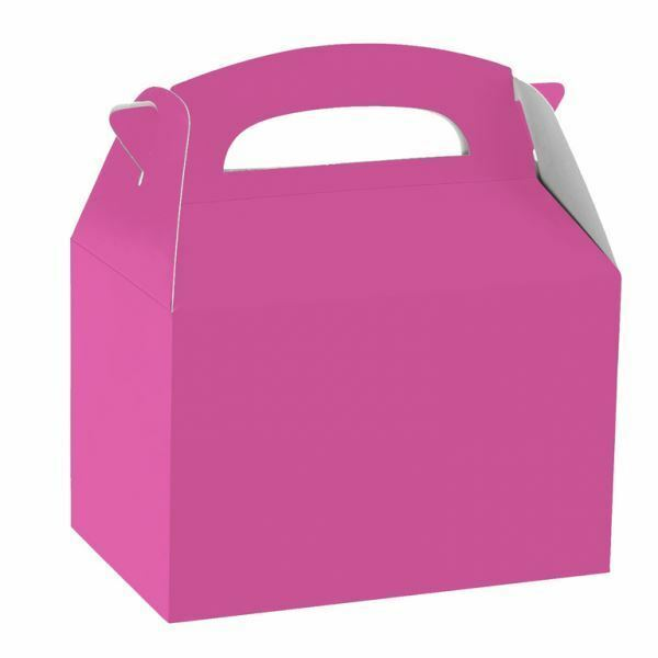 Kids Children S Birthday Plain Coloured Party Supplies Paper Food Favour Bo Bright Pink 5 Ebay